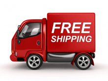 image of a small delivery truck with free shipping written on it